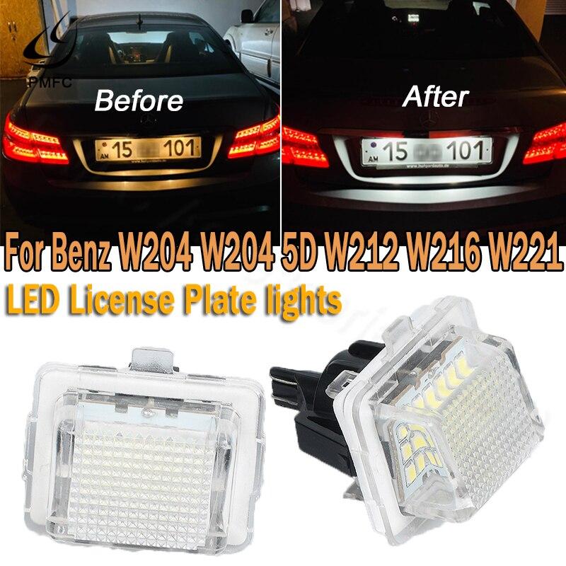 Bombilla LED para matrícula de mercedes-benz, luz blanca sin hiperflash, PMFC, 12V,...