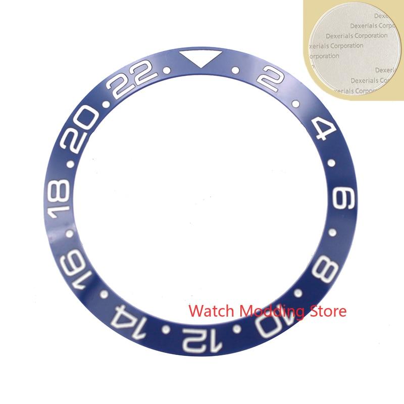 38mm GMT alta calidad azul blanco escritura cerámica bisel inserto para skx007 skx009 Sub buzos hombres reloj reemplazar Accesorios