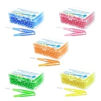 60pcs 0 6mm 1 5mm interdental brushes teeth soft dental picks floss refill dental flosser toothpick cleaners tooth cleaning tool