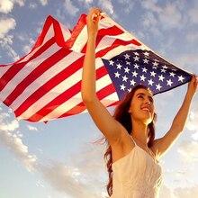Dwustronna drukowana flaga ameryki anty-znikną flaga ameryki dekoracji USA Banner