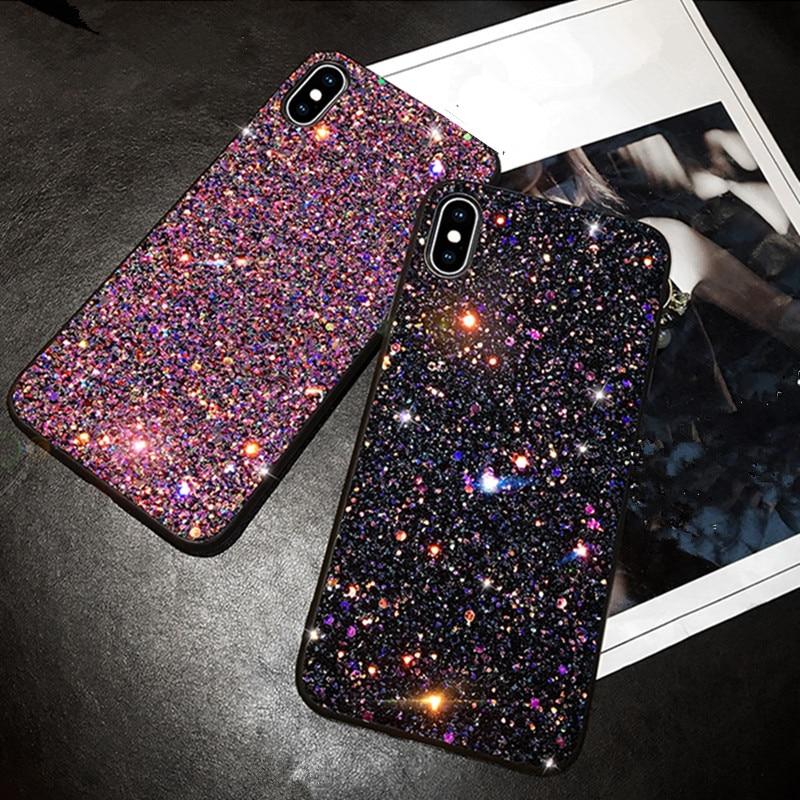Роскошные модные блестящие Чехлы для iPhone 6 6S 7 plus 8 Plus TPU чехол для iPhone 11 pro max X 6 7 8 Plus чехол для телефона