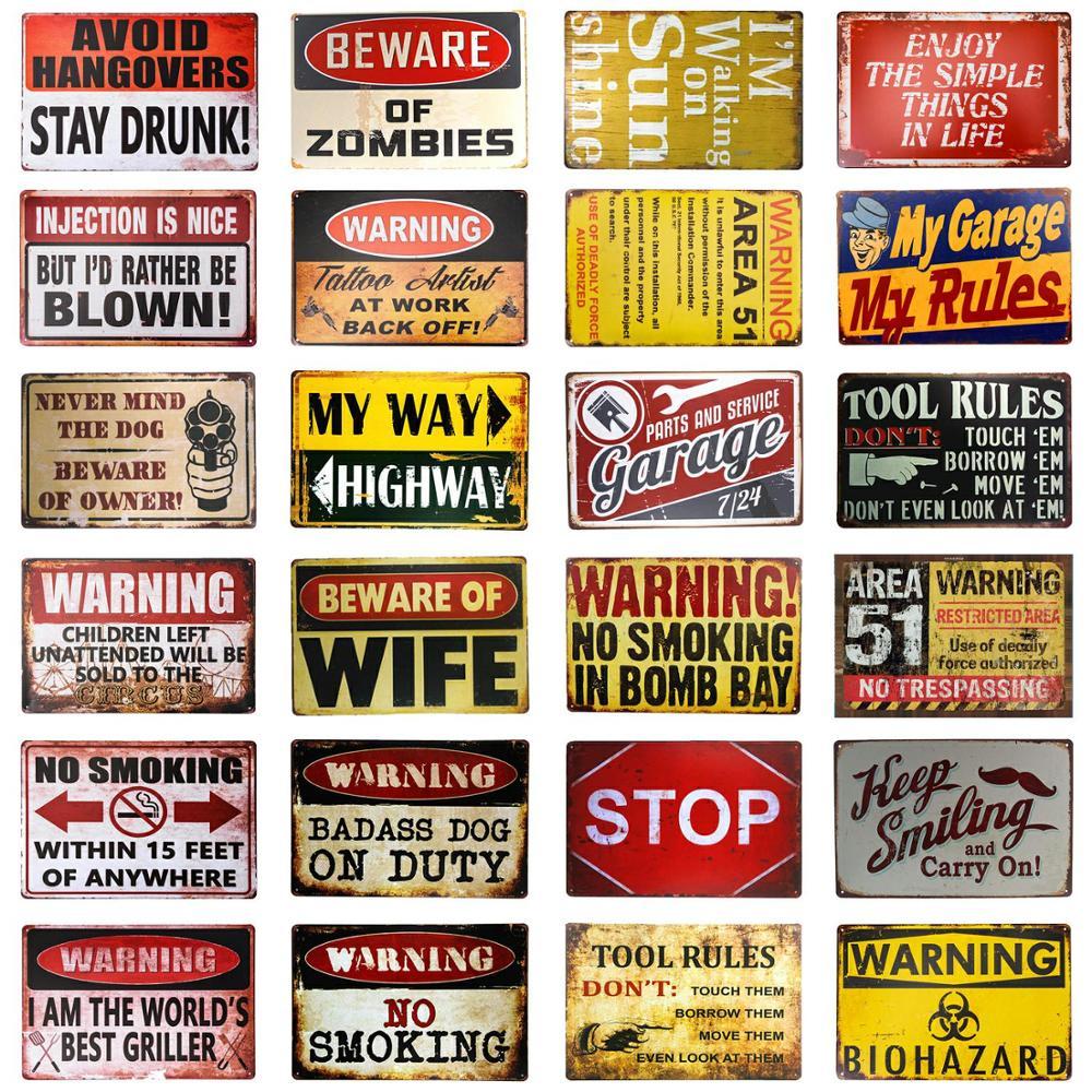 DL-Warnung Biohazard Gefahr Zeichen Gefahr Etiketten Neuheit METALL Zeichen