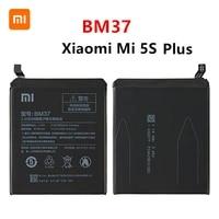 xiao mi 100 orginal bm37 3800mah battery for xiaomi mi 5s plus mi5s plus bm37 high quality phone replacement batteries