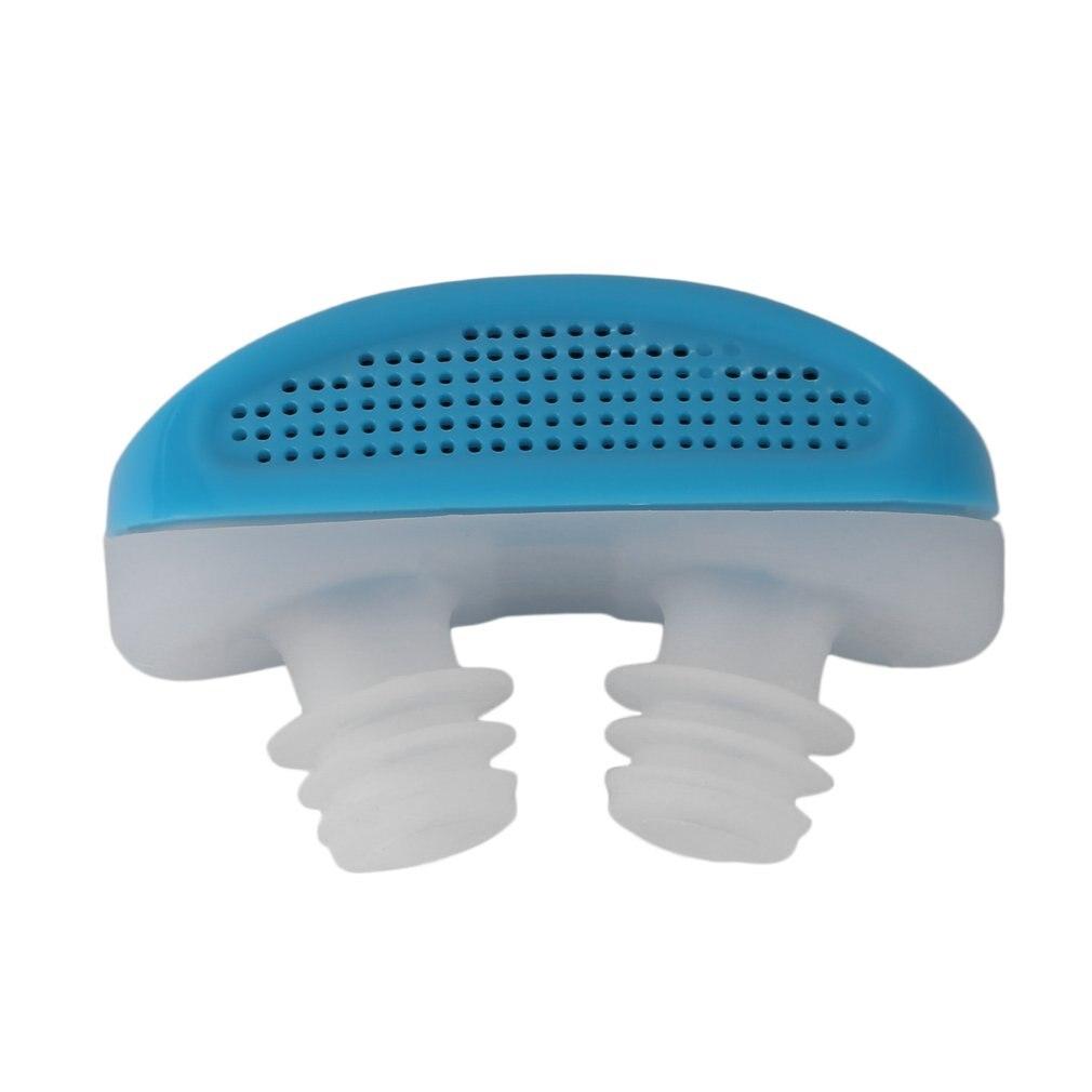 Clip antironquidos para nariz, respirable, mantenimiento fácil, alivia los ronquidos, aparato de ayuda, ABS, suave, cómodo, de silicona, pulso suave, saludable para el personal