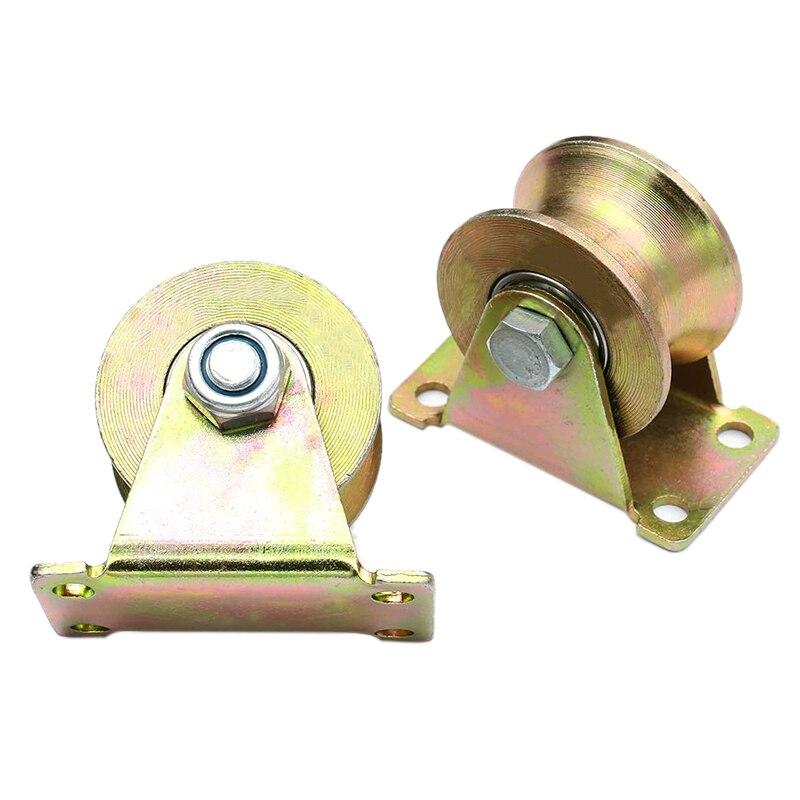 2 шт. 2-дюймовый U-образный гусеничный ролик, ролик для раздвижной двери для перевернутого гусеничного прокатного ворота, промышленные машин...