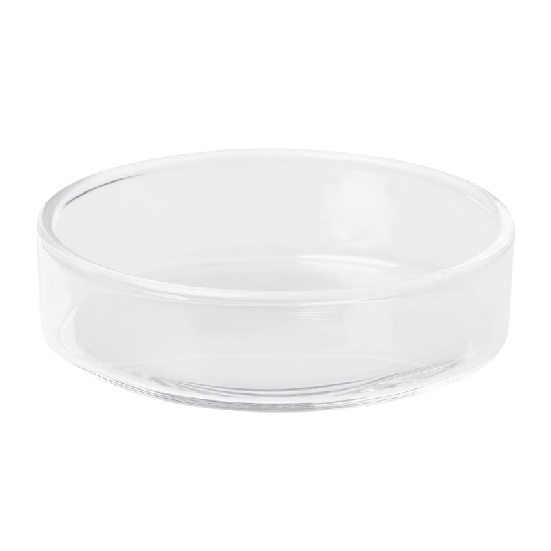 Livraison directe et vente en gros verre clair crevettes nourriture plats ronds petit poisson alimentation bol fournitures ornementales APR29