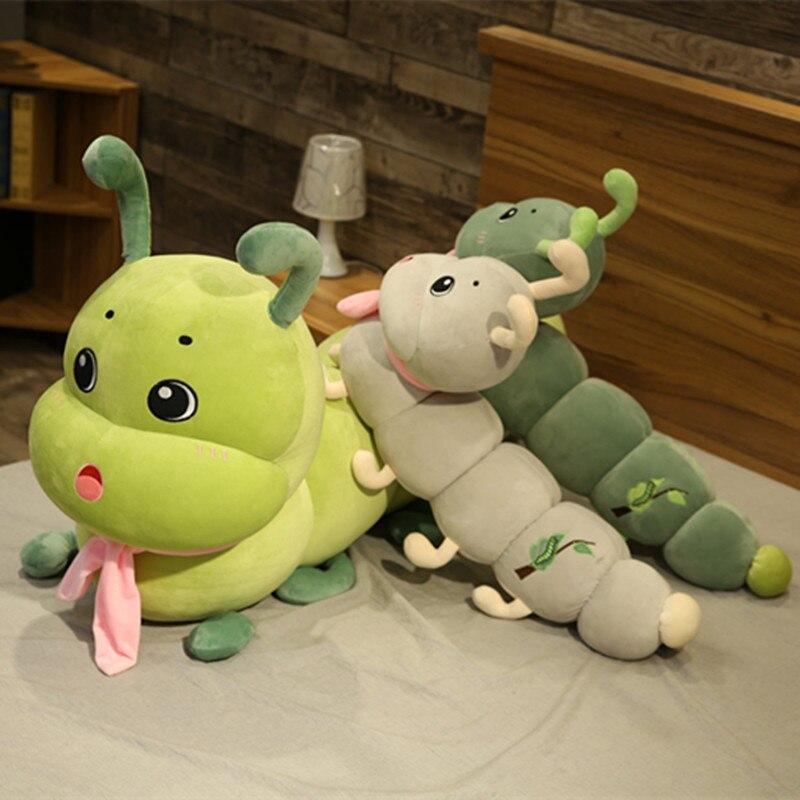 100/130/160cm colorido caterpillar brinquedo de pelúcia para crianças macio pelúcia segurar travesseiro boneca meninos meninas brinquedo peluche almofada novos presentes