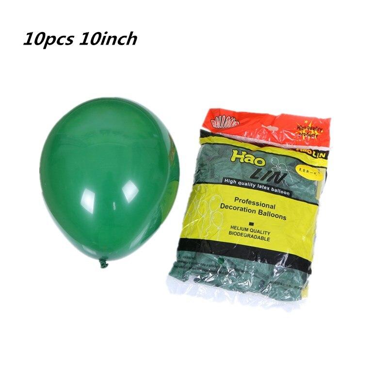 Темно-зеленый воздушный шар 10 шт 10 дюймов круглые латексные шарики рождественские украшения на день рождения для взрослых гелиевые баллоны...