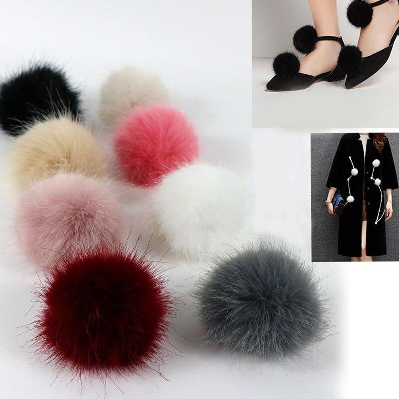 Cute Pink Cat Fur Keychain Fake Fur Ball Key Chain Fluffy Pompon Keyring Bag Charms Key Ring Llaveros Chaveiros