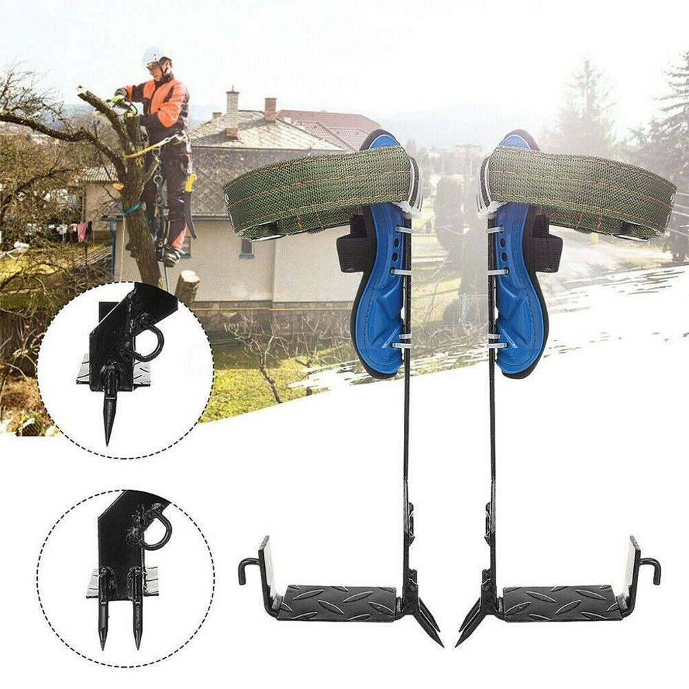 2 التروس شجرة تسلق سبايك مجموعة حزام أمان حزام قابل للضبط الفولاذ المقاوم للصدأ حبل التخييم الحبل الإنقاذ حزام أمان Accessor T1Z9