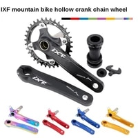 mountain bike hollow all in one crank mid axis ixf modified single disc dental disc 32t 34t 36t 38t bike crankset bmx