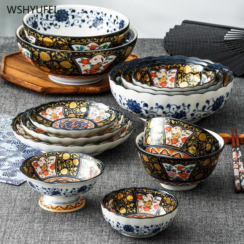 Plato de cerámica PARA CENA, plato de servicio, plato de cocina occidental para carne, plato para aperitivos, Bol alto para ensaladas, vajilla de estilo japonés