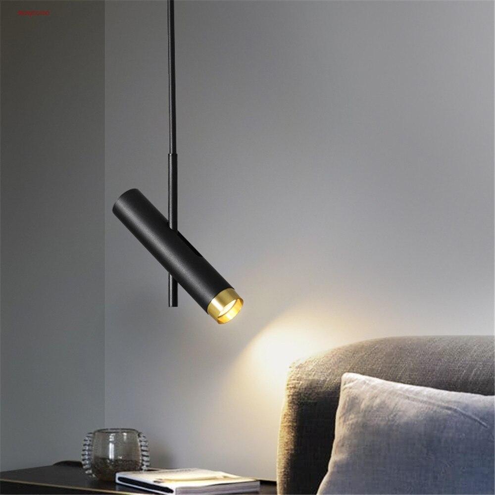 الشمال الحديثة أسود أبيض أنيق البقع قلادة Led أضواء لغرفة النوم المطبخ غرفة الطعام مصباح معلق لوفت الإضاءة الداخلية