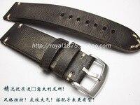 2019 Retro Dark brown Genuine Leather Watch Band Men's 18mm 19mm 20mm 21mm 22mm Strap For Seiko for Tissot Omega Female Belt