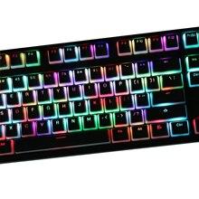 108 touches/ensemble PBT pouding rétro-éclairé Keycap clavier mécanique touches pour Filco Ikbc Ducky Noppoo Varmilo profil OEM
