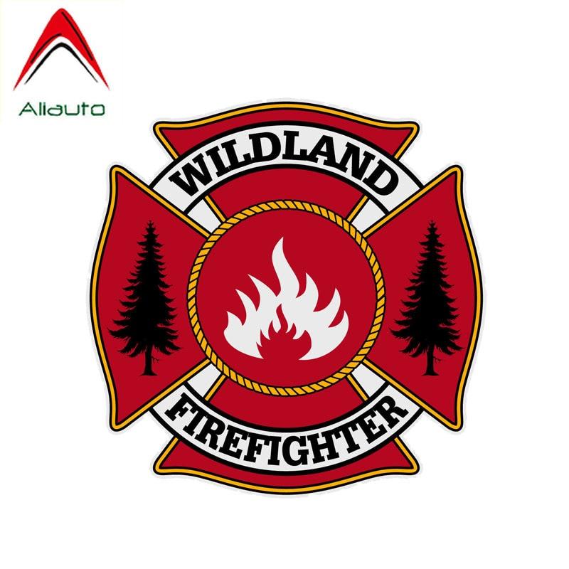 Aliauto firmar etiqueta engomada del coche de incendios forestales de bombero de PVC cubierta de la etiqueta para Chevrolet Caveo Suzuki Peugeot 14cm * 14cm