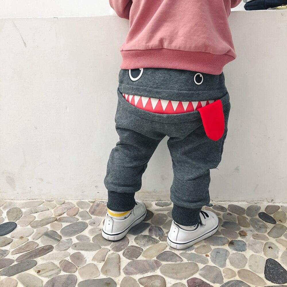 Детские брюки для мальчиков; Повседневная одежда для детей ясельного возраста; Милые брюки с рисунком монстра; Длинные Детские костюмы с ге...