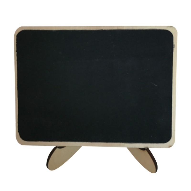 Pizarra de mesa de madera negra con patas/letrero de mesa de boda Vintage/pequeño tablero de notas de encimera de cocina marco de madera clásico