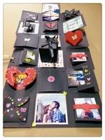 time corridor diy scrapbook surprise explosion box exploding gift for anniversary wedding photo album birthday gift box