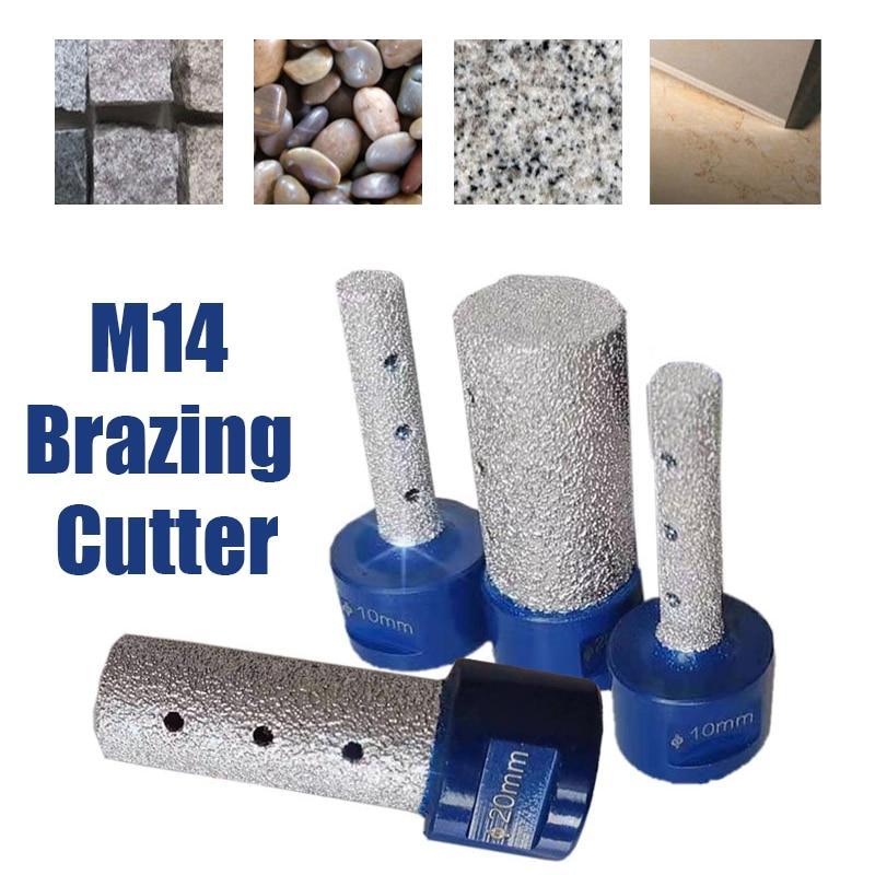 10/15/20/25mm M14 Thread Vaccum Brazed Diamond Finger Bit Brazing Milling Cutter for Ceramic Tile Granite Marble Enlarge Shape