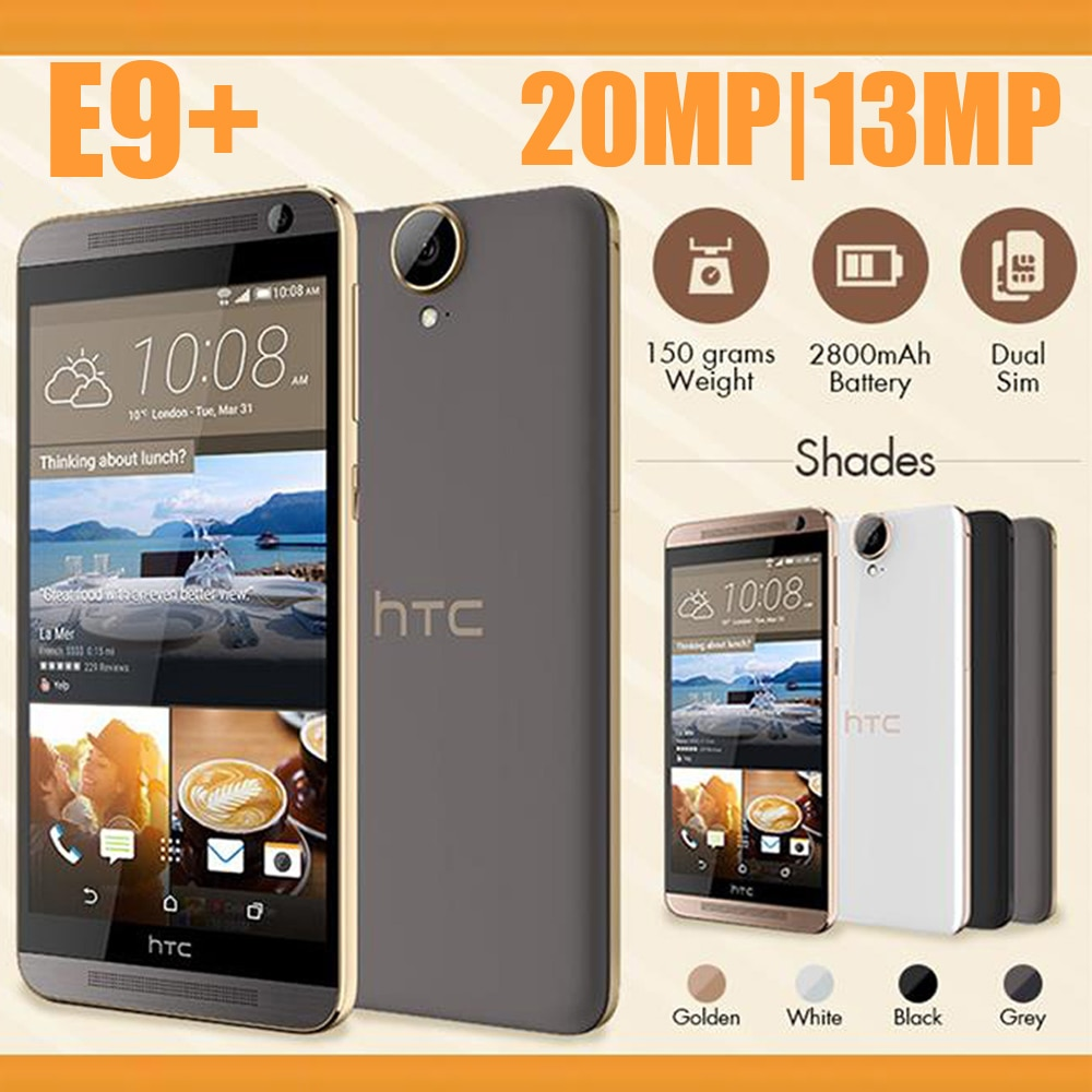 Used HTC One E9 Plus 4G LTE 5.5inch MT6795 Octa Core 3G RAM+32G ROM 13mp+20mp front/back camera Dual Sim Wifi Global Version