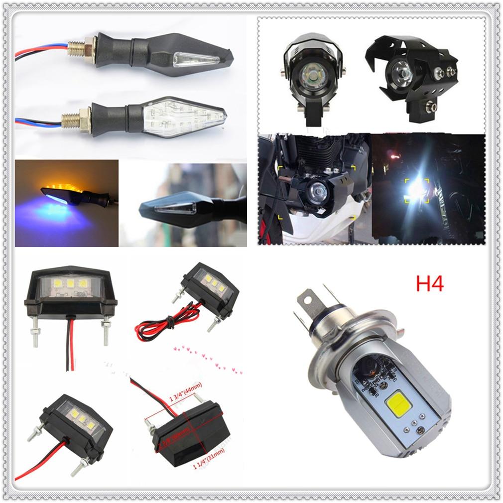 Motocykl reflektor LED lampy przeciwmgielne włącz sygnał tablicy rejestracyjnej żarówka H4 dla Buell 1125CR 1125R M2 cyklon S1 błyskawica Ulysses XB12X