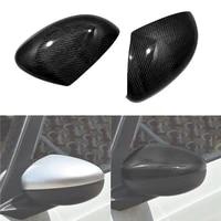 for honda fit 2021 real carbon fiber car accessories rearview mirror cover trim panel decration sticker