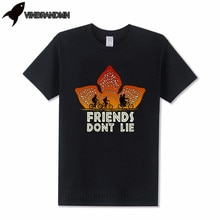 Funny Fitness Hakuna Matata Upside Down T-Shirts Cool Hawkins Stranger things Men TShirt Friends Dont Lie Eleven Mens MTB Tees