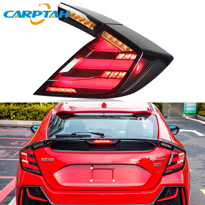 Автомобильный Стайлинг задний фонарь задние фонари для Honda Civic Тип R 10th хэтчбек 2016 2017 DRL + Динамический сигнал поворота + обратный + тормозной с...