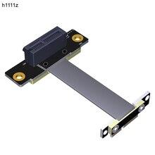 라이저 PCIE x1 연장 케이블 듀얼 90도 PCI-E PCI Express 1X to 1X 슬롯 라이저 카드 익스텐더 리본 케이블 Bitcoin Miner