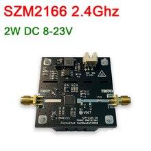 SZM2166 2,4 Ghz RF усилитель мощности 2400MHz 2W 33dBm 8 23V DC для wifi Bluetooth Ham радио усилитель