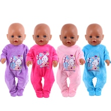 Fit 18 inch 40-43cm Born Baby Doll Clothes Doll Unicorn Rabbit Down jackets shoes Accessories For Ba