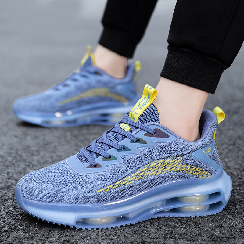 The New Reflective Breathable Comfortable Men Women Running Shoes Fashion Sneakers