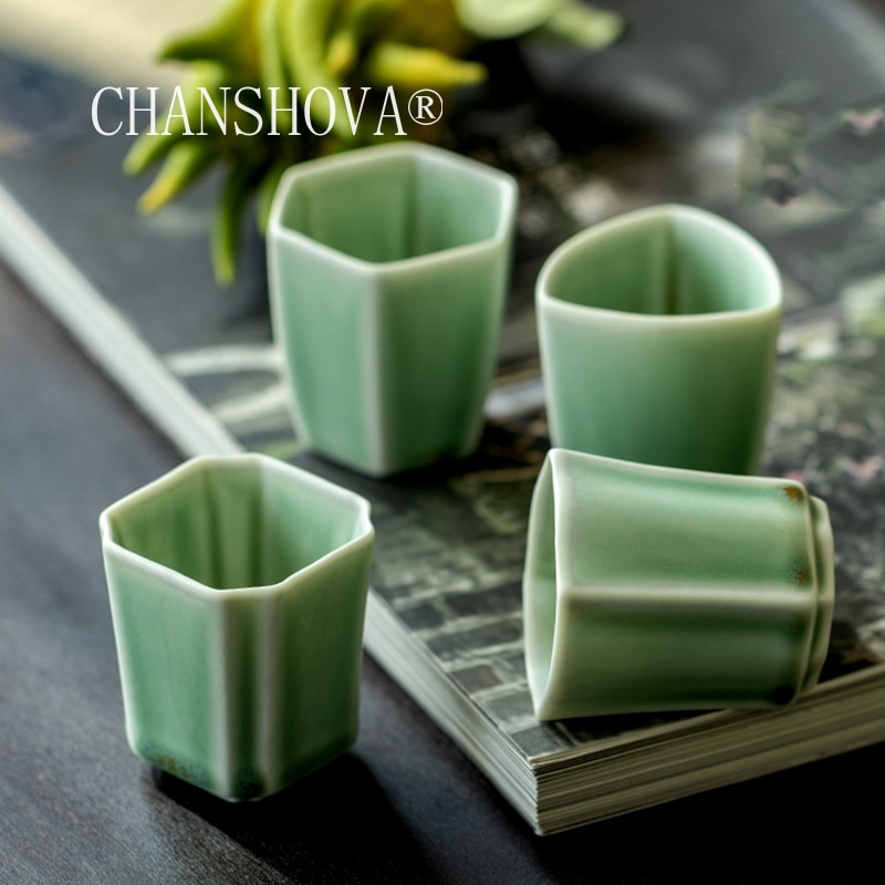 CHANSHOVA-فنجان قهوة صيني تقليدي ، ملمس عشوائي ، سيراميك ، 45 مللي ، G108