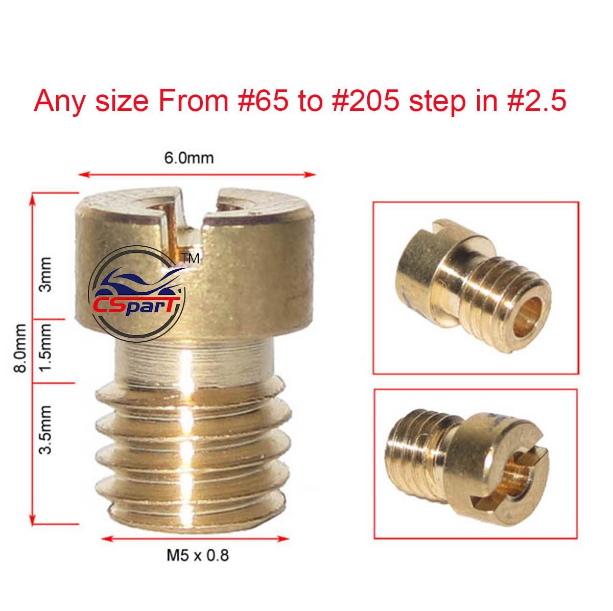 4 6 8 10 шт M5 круглая основная струя для Keihin CVK PE PZ PWK OKO KOSO карбюратор 65 до 205