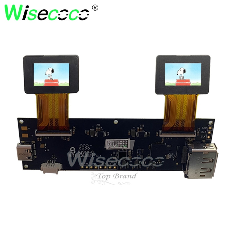 0.71 inch 1920x1080 FHD AMOLED VR screen display with 60Hz driver board 3000nits high brightness vr display enlarge