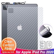 Película trasera de fibra de carbono para Apple iPad Pro 2020, pegatina trasera, Protector de pantalla para iPad Pro 11 12,9 2020, película protectora trasera