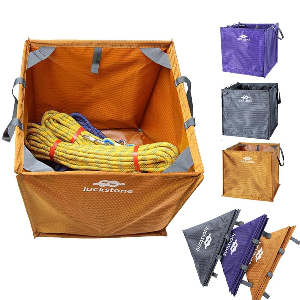 3 اللون النايلون للطي مكعب تسلق الصخور Arborist رمي خط حبل طوي حقيبة التخزين للتخييم التنزه تسلق ملحق