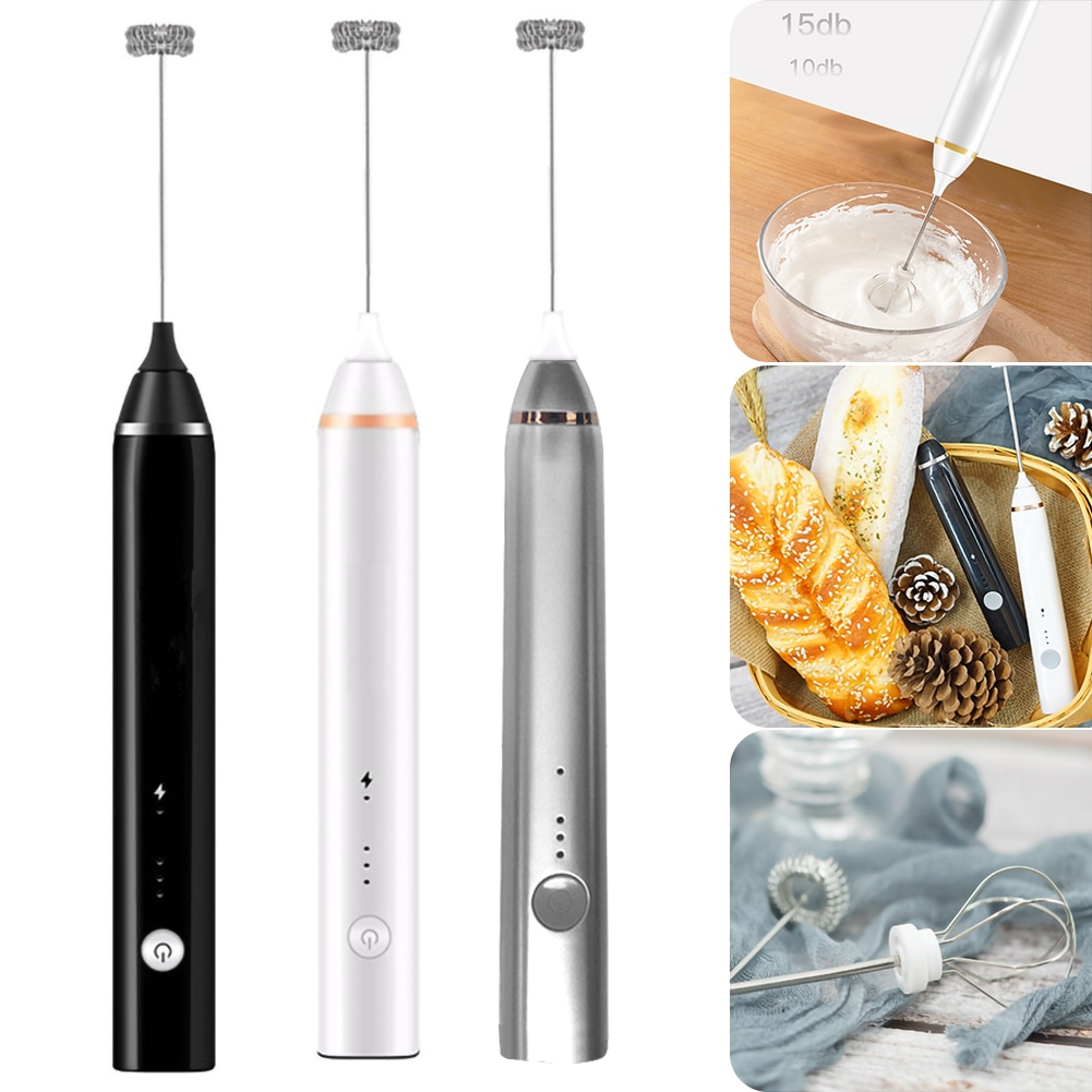 Electric Milk Frother Automatic Handheld Foam Coffee Maker Egg Beater Portable Kitchen Coffee Whisk Tool Whisk Egg Beater