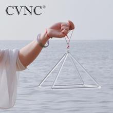 CVNC 16 inch Chakra Clear Quartz Crystal Singing Pyramid