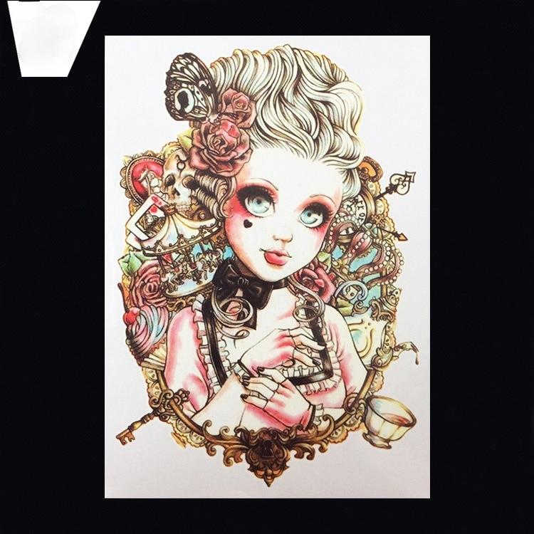 Fashion Summer Flower Arm Tattoo Sticker Yuanhua Tattoo Sticker Waterproof Half Arm Tattoo
