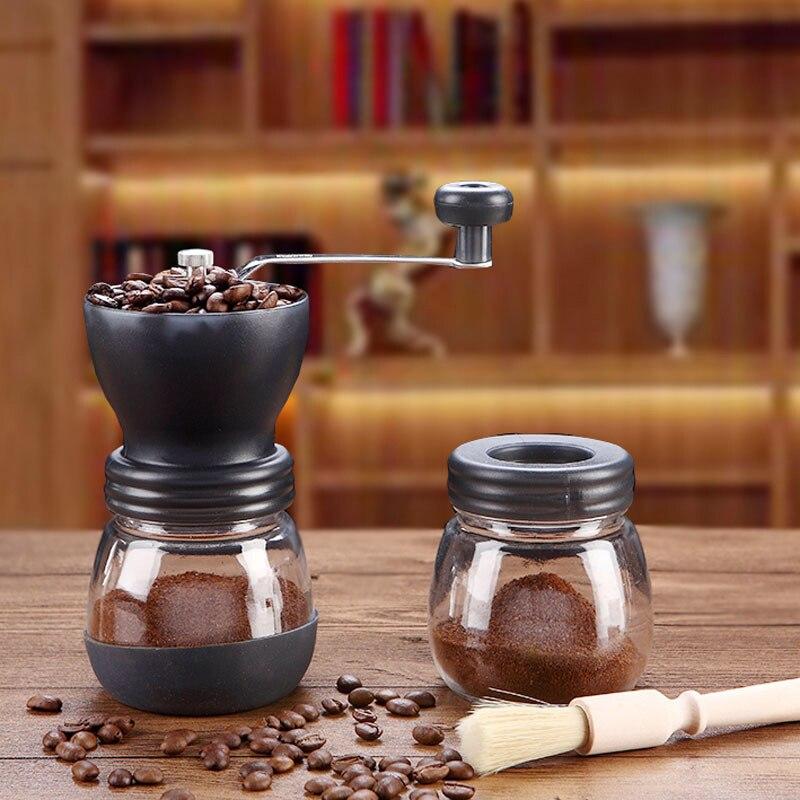 Molinillo manual de café Wahsable, mango portátil de acero inoxidable para Camping, café en casa HY99