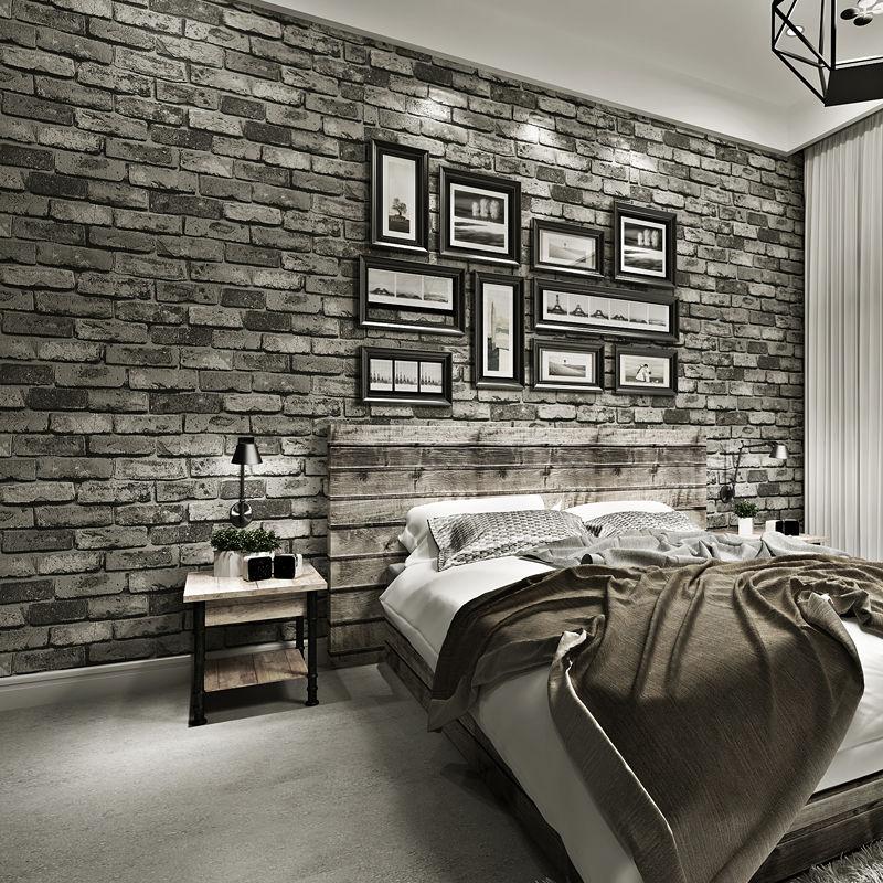 Papel دي باريد غرفة المطبخ الحمام ملصقات جدار مقاوم للماء ديكور المنزل للإزالة الفينيل بولي كلوريد الفينيل الطوب حجر ورق حائط ذاتي اللصق
