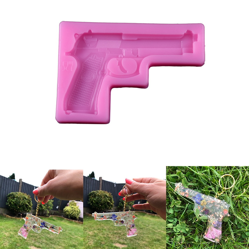 Gun Toy Pistol Shape Fondant Cake Silicone Mold 3D Embossed Chocolate Mould Pastry Biscuits Molds DIY Kitchen Baking Tools new silicone animal 3d mold unicorn shape ice cube candy chocolate cake cookie cupcake molds soap mould baking pan pastry tools