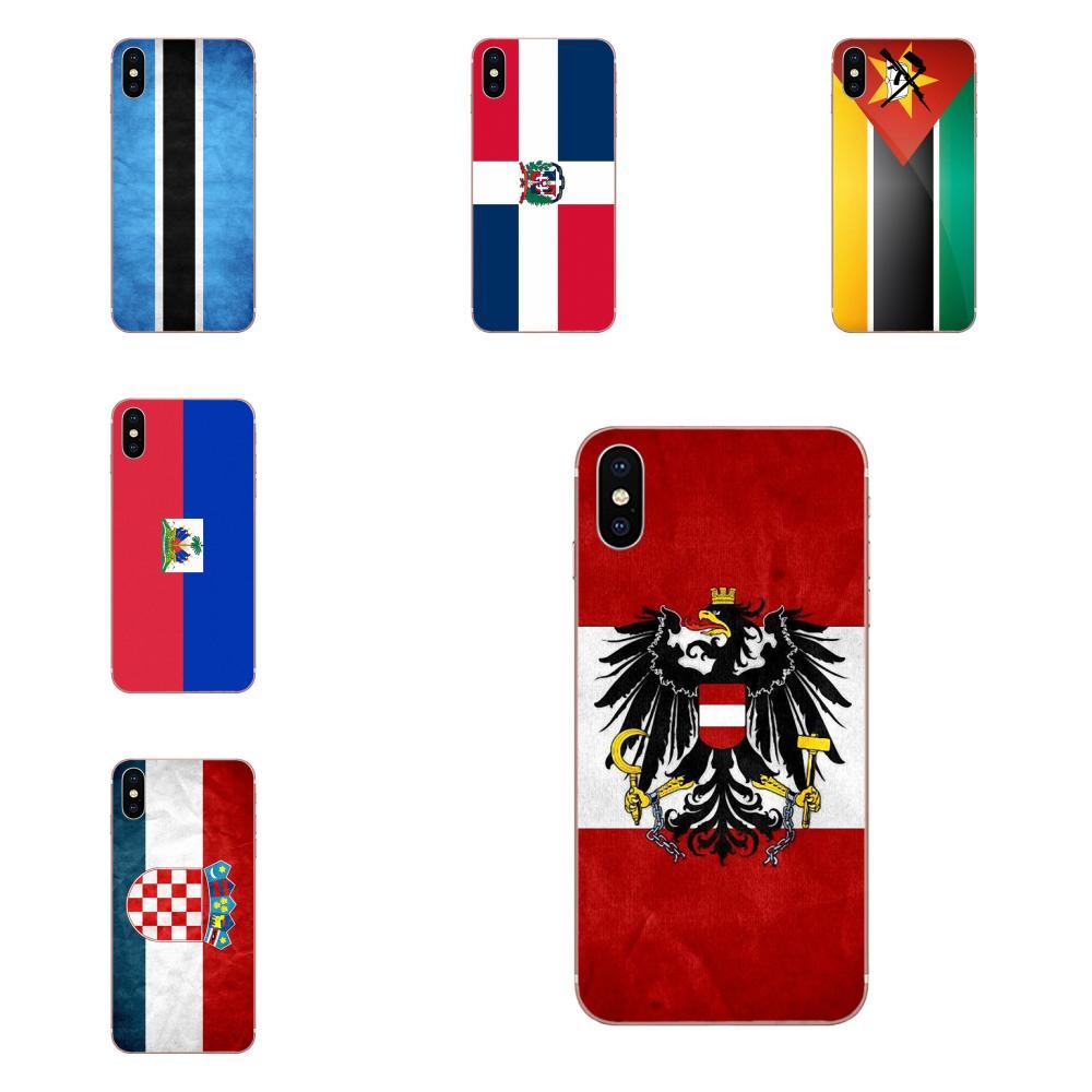 Para Huawei P7 P8 P9 P10 P20 P30 Lite Mini Plus Pro 2017, 2018 de 2019 arte de TPU funda bandera de Haití otro país banderas