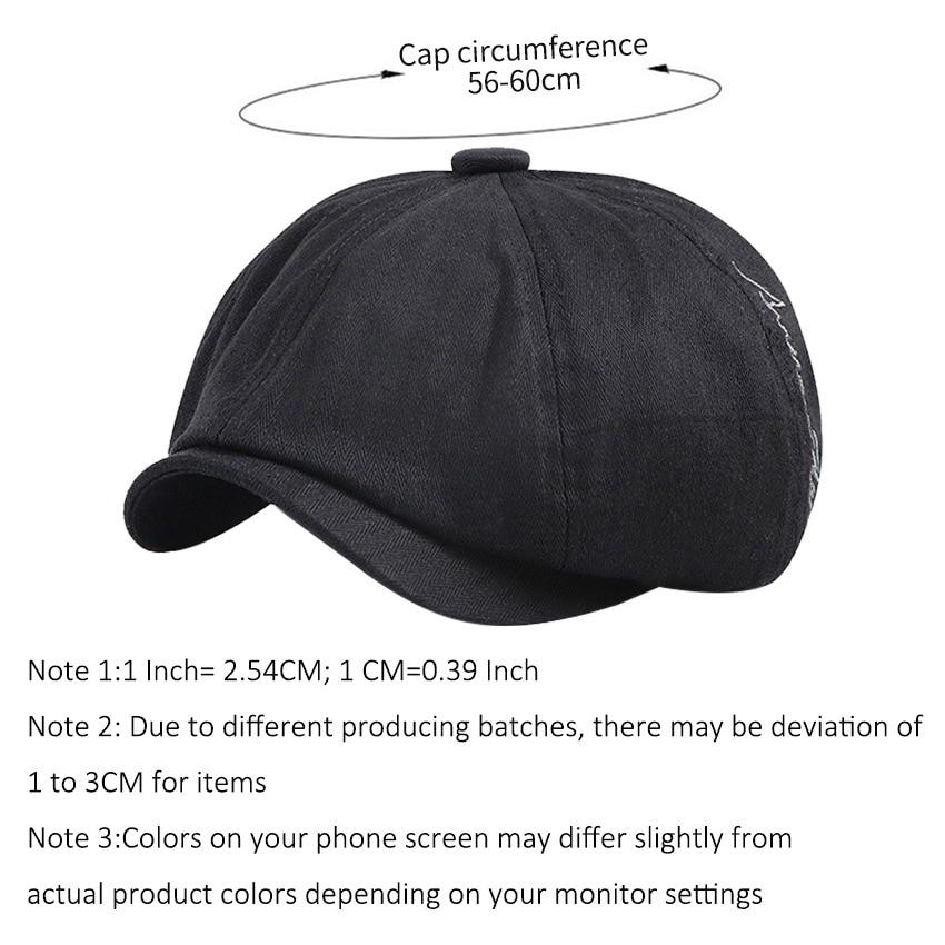 JNKET New Retro Unisex Beret Hat Peaked Cap Casual Octagonal Cap  Flat Caps Cotton Beret Cap Artistic Gatsby Cap Casquette