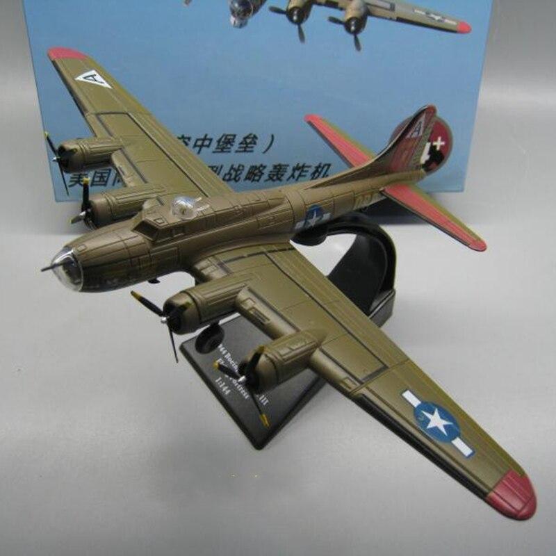 Maqueta militar de juguete a escala 1/144 B-17 Bombardero de La fortaleza voladora bombardero Diecast Avión de Metal modelo de avión juguetes coleccionables AMER