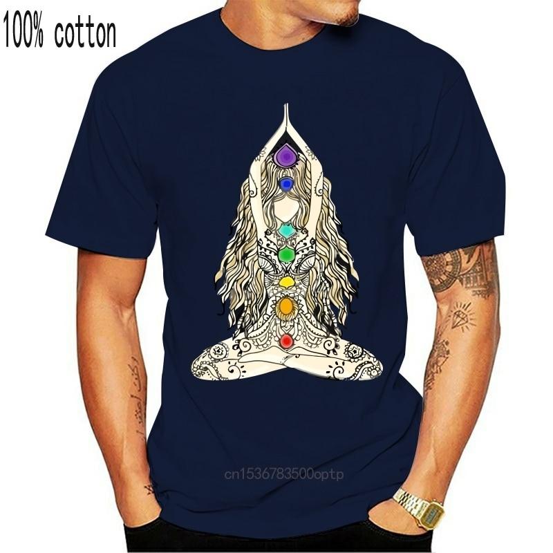 Йога чакры женские удовольствие от солнца Мандала юмор футболка более Размеры S 5XL Homme лоферы на весну хлопковые модные по индивидуальному заказу рубашка|Футболки| | АлиЭкспресс
