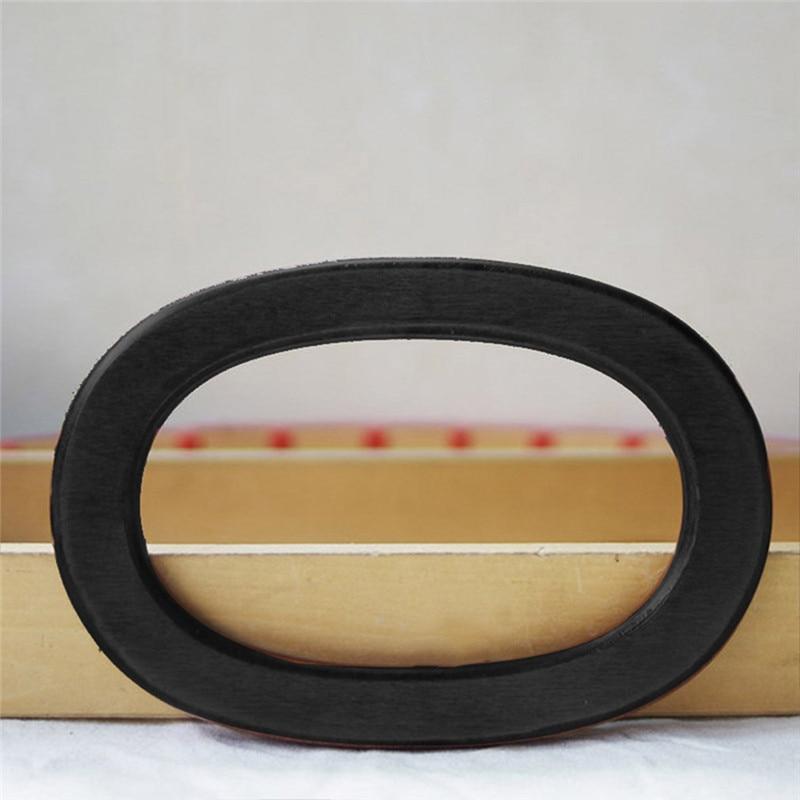 Mango de bolsa de madera con forma ovalada, 2 piezas, marco de monedero bolsa de madera, asas de piezas