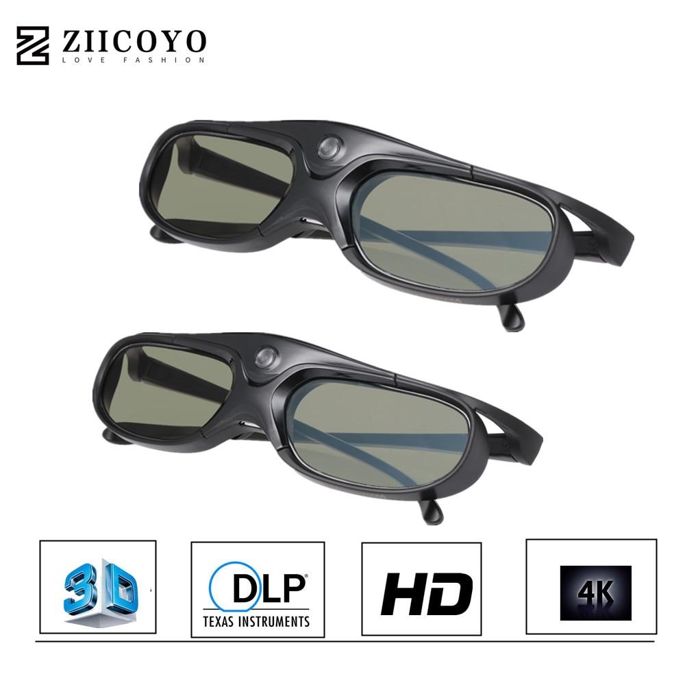 2 uds obturador activo recargable 3D DLP gafas apoyo 144HZ para Xgimi Z3/Z4/Z6/H1/H2 loco G1/P2 BenQ Acer y proyector DLP LINK